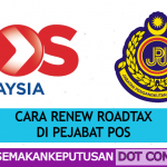cara renew roadtax di pejabat pos