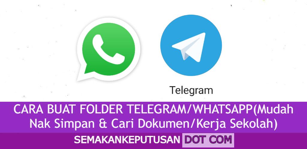 CARA BUAT FOLDER TELEGRAM/WHATSAPP