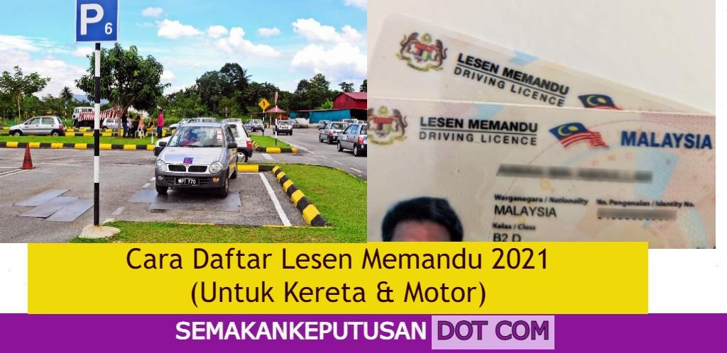 cara daftr lesen memandu 2021